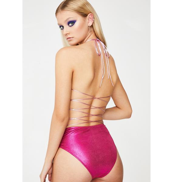 Club Exx Candy Sunrise Metallic Shorts