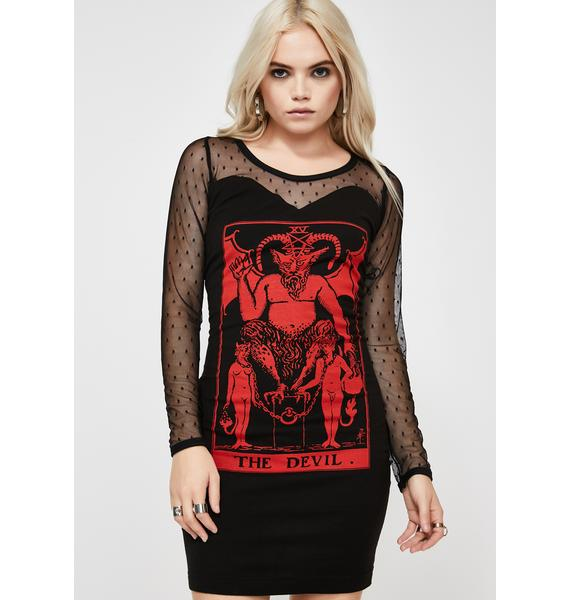 Vera's Eyecandy The Devil Mesh Dress