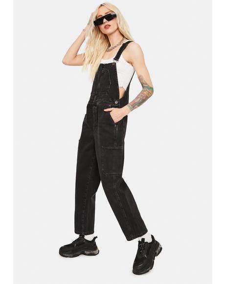 Black Workwear Dungarees