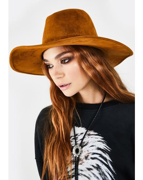 Whiskey Rumors Gone Wild Suede Hat