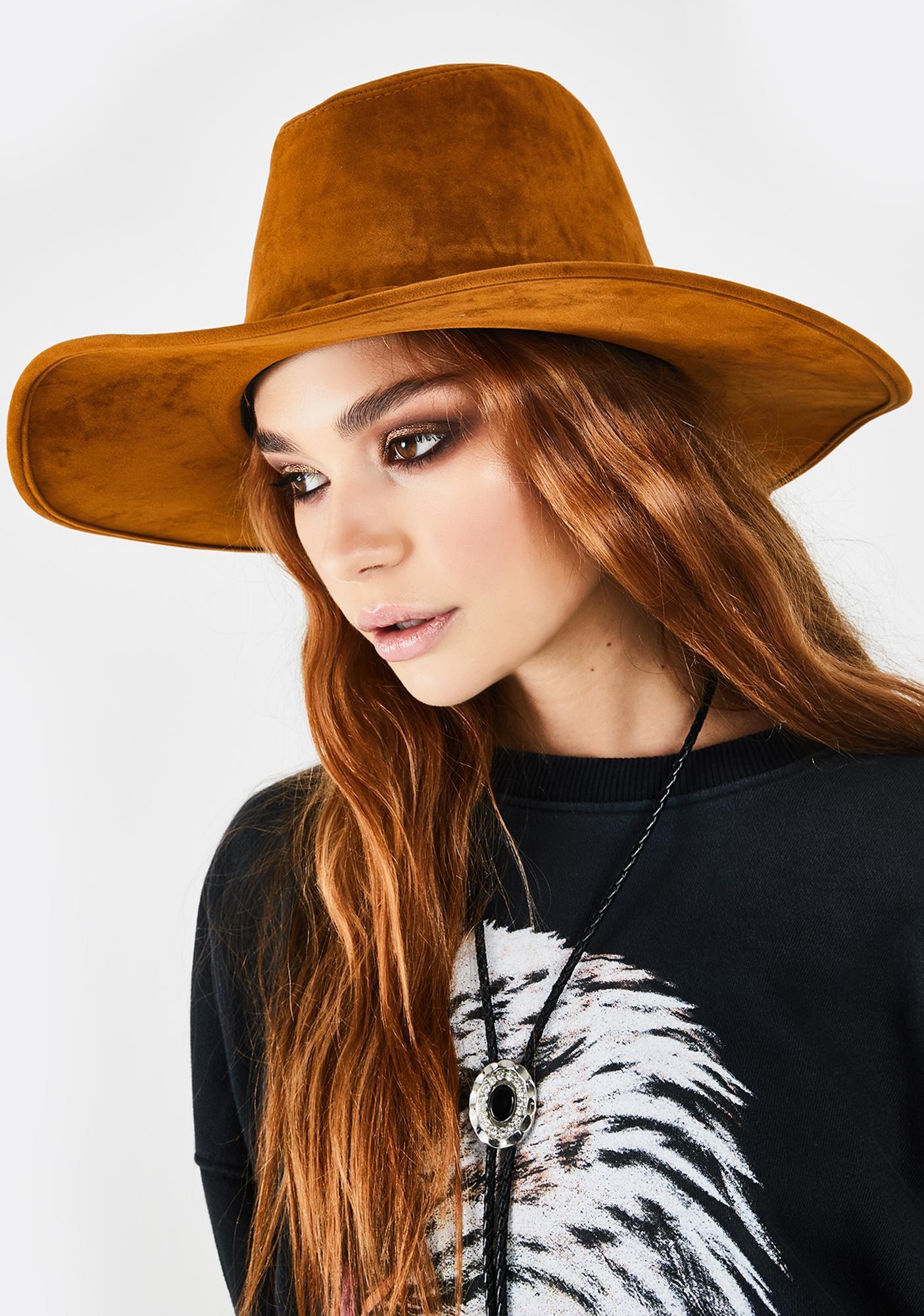 Whiskey Rumors Gone Wild Suede Hat