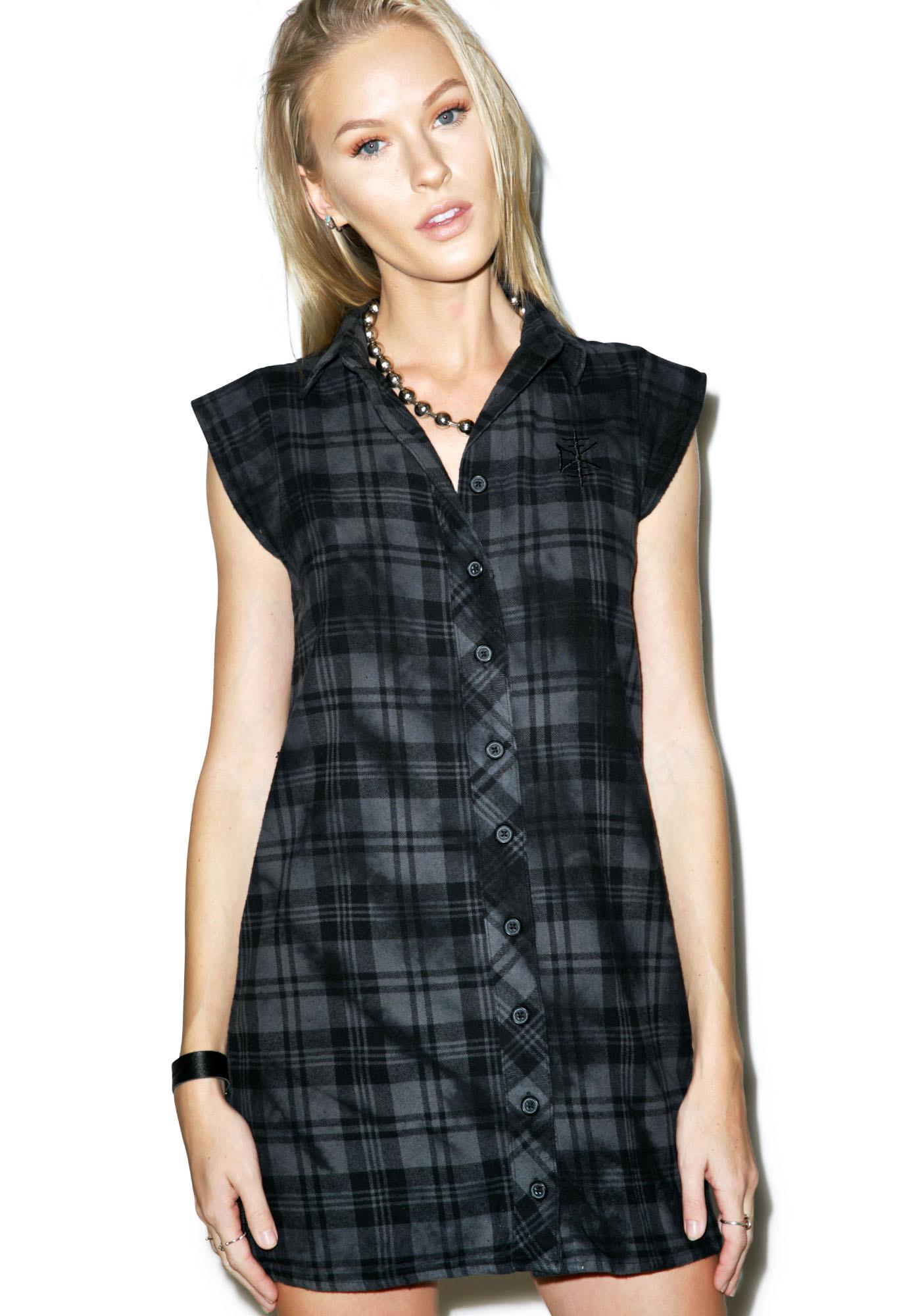 Disturbia Lupine Shirt Dress