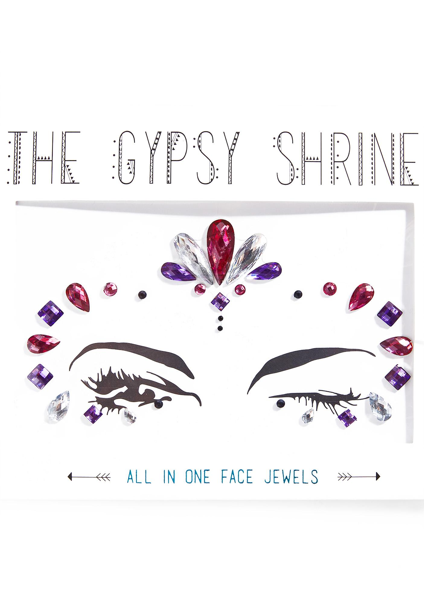 The Gypsy Shrine Jasmine Candy Skull Face Gems