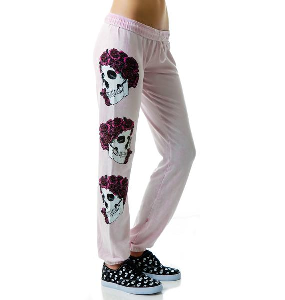 Lauren Moshi Rose Skull Sweat Pants