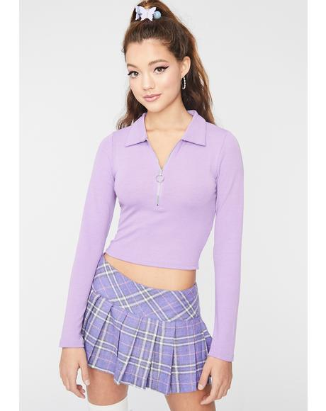 Sassy Schoolgirl Polo Crop Top