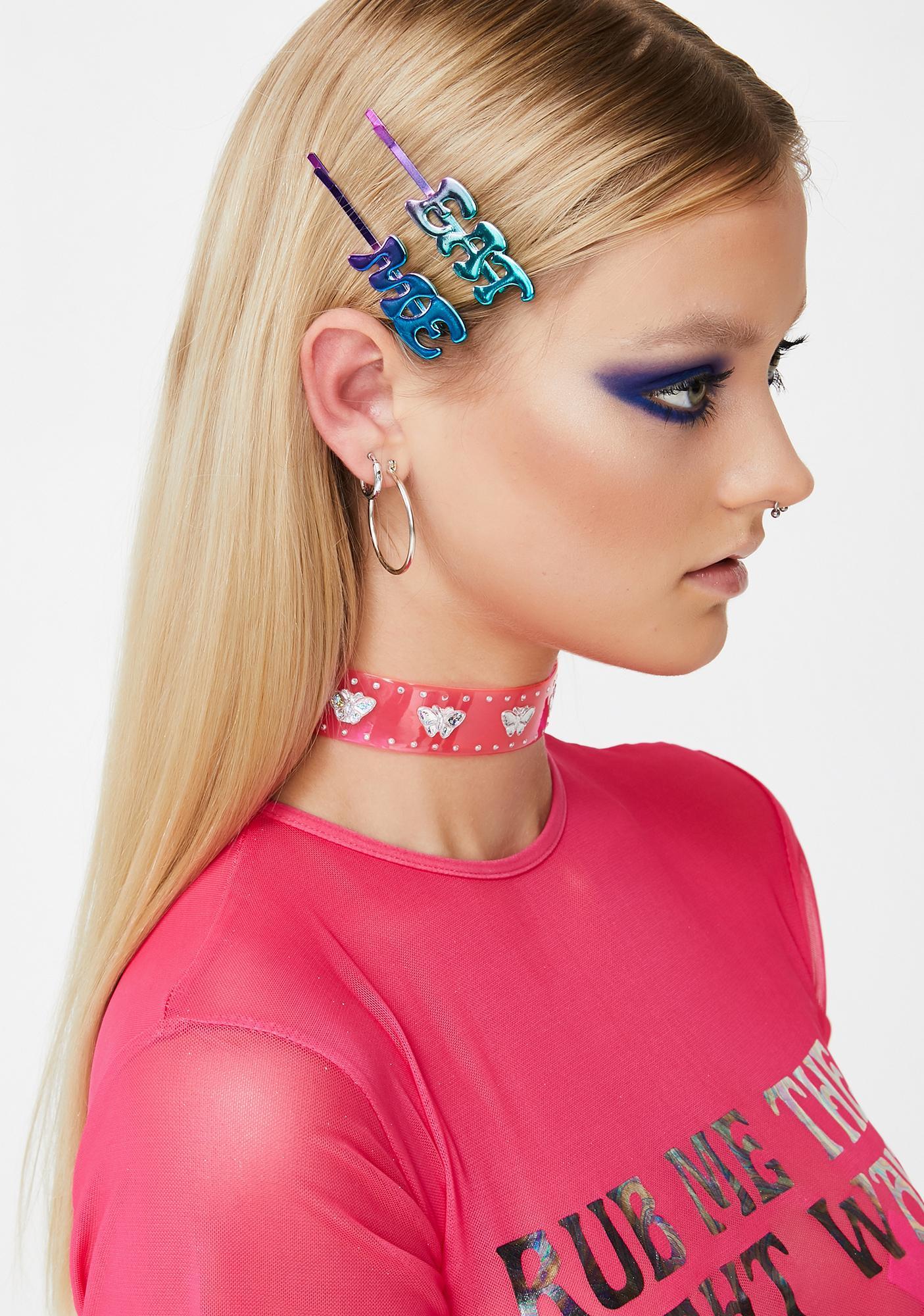 Eat Me Drink Me Hair Pin Set