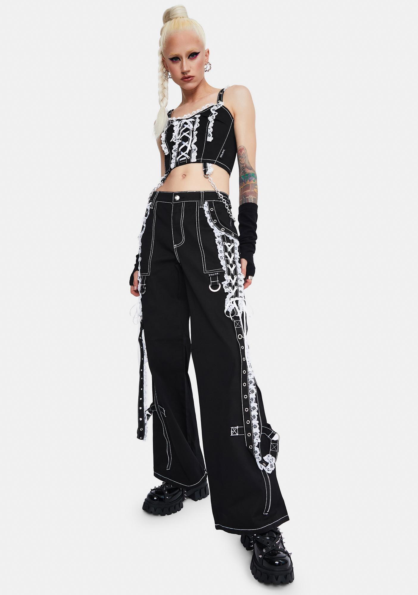Tripp NYC Lace Dark Street Pants