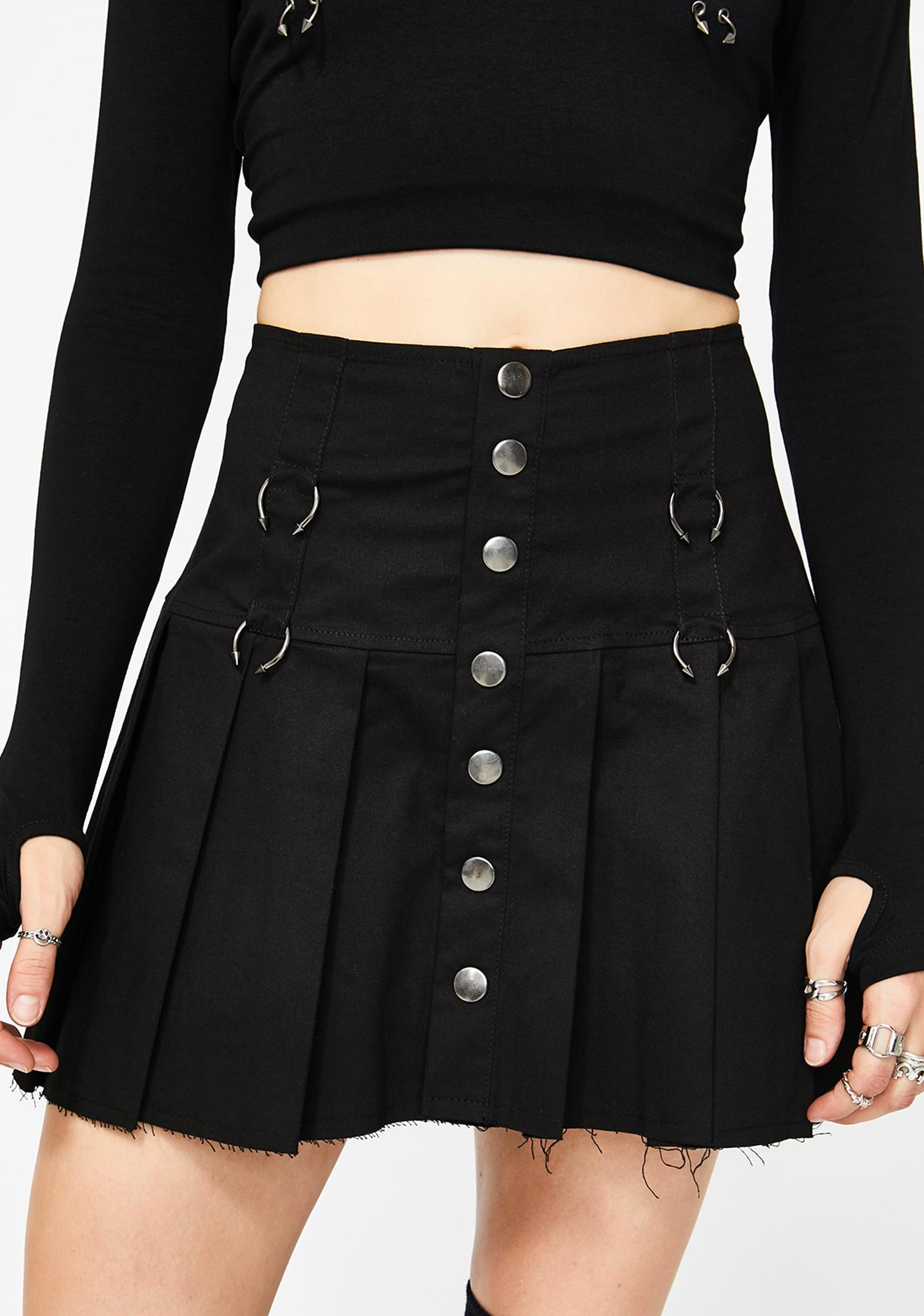 Current Mood Lonely Antics Pleated Skirt