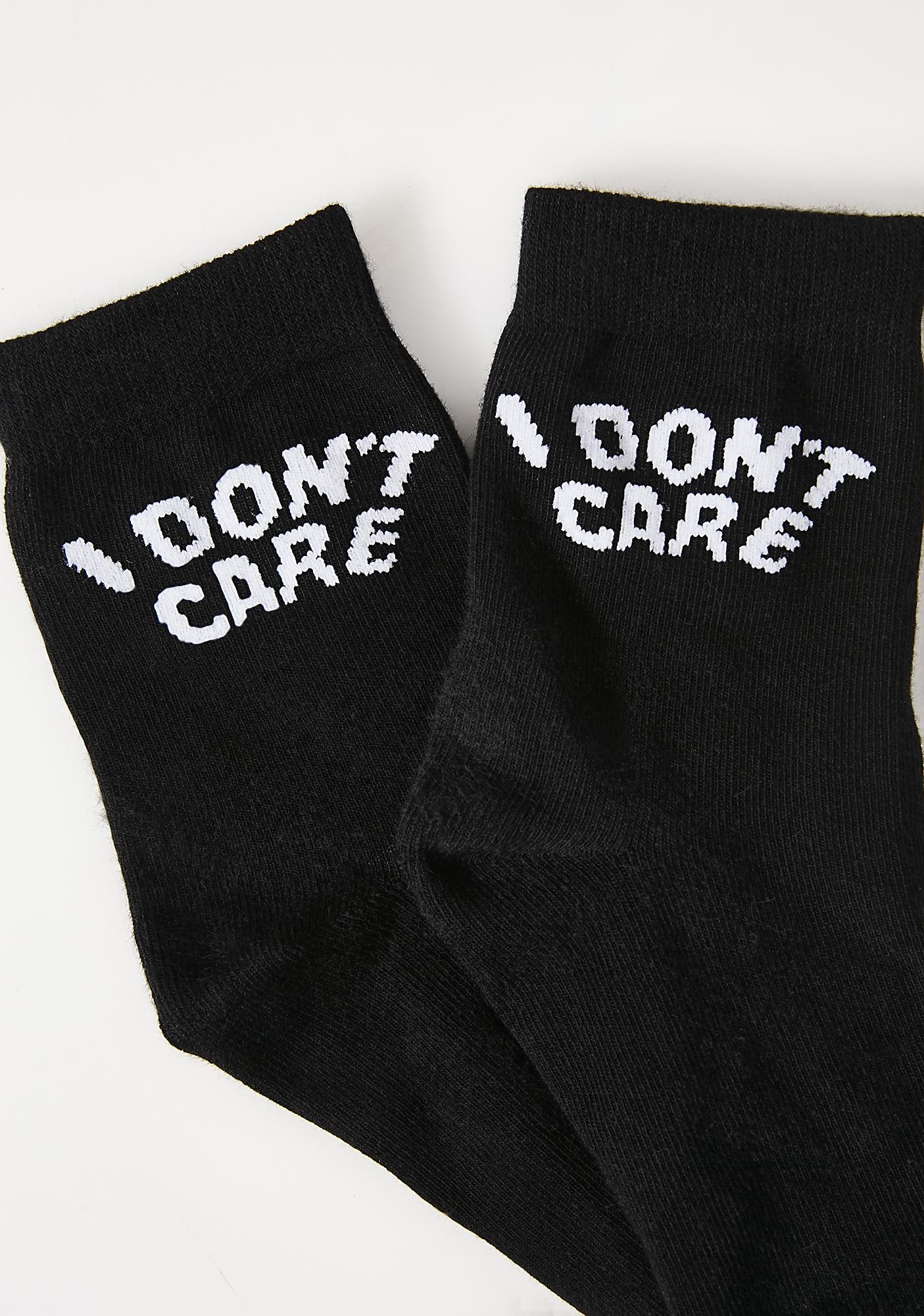 Killstar Don't Care Socks