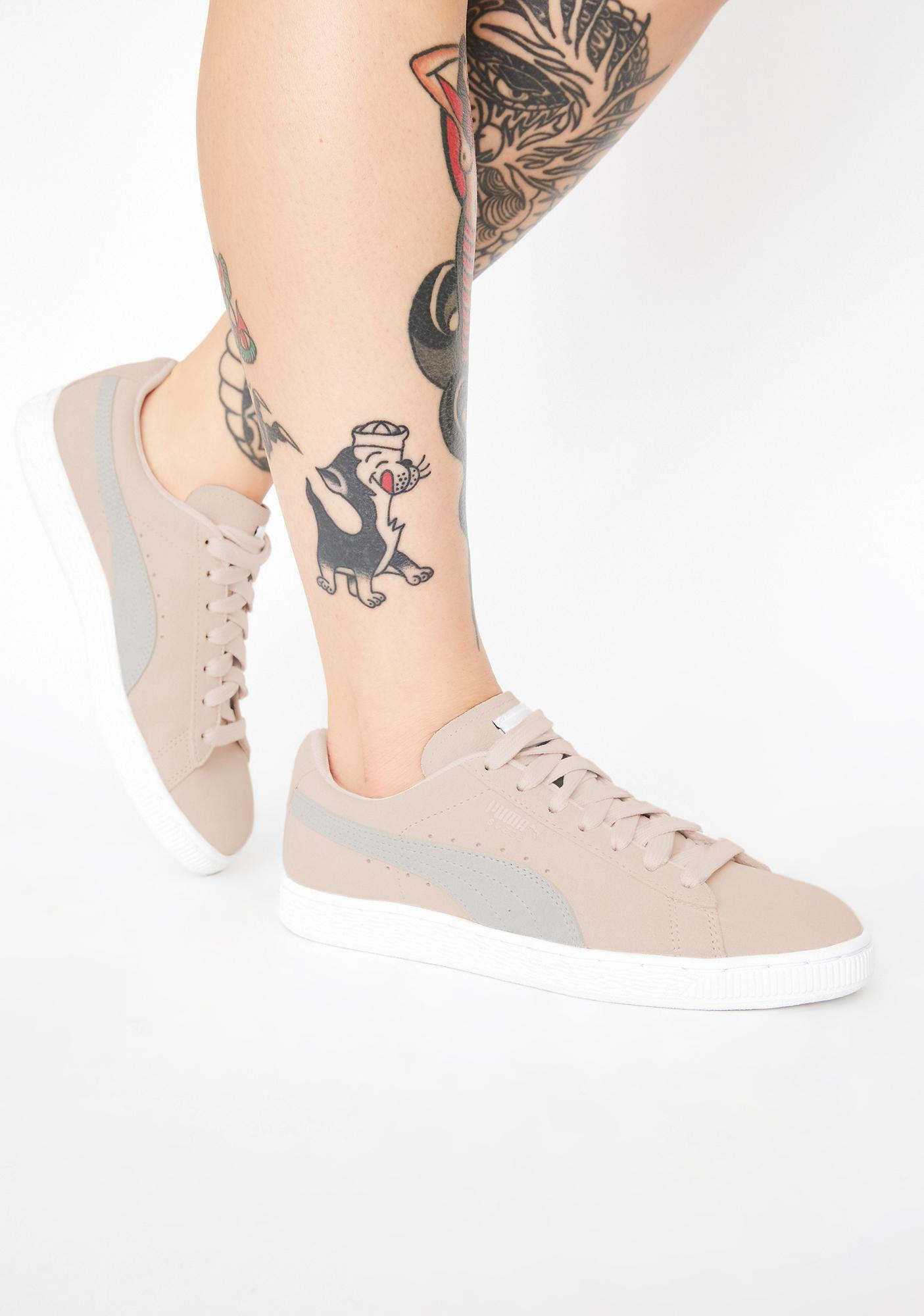 PUMA Pink Suede Classic Sneakers