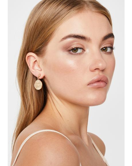 Eye Know Coin Earrings