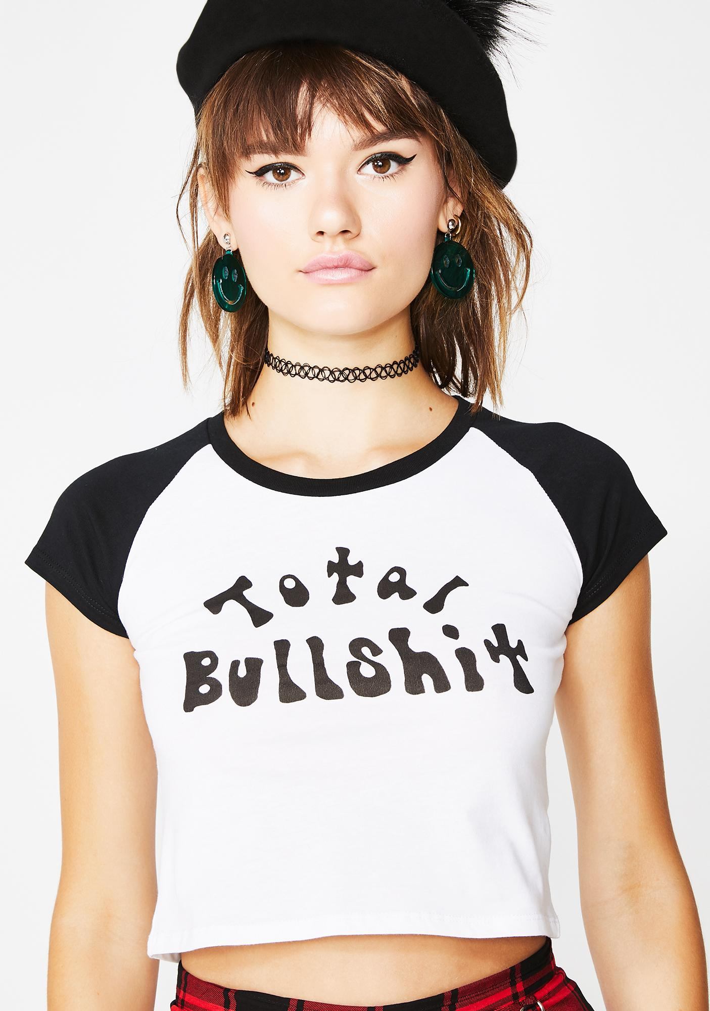 Current Mood Total Bullshit Crop Top