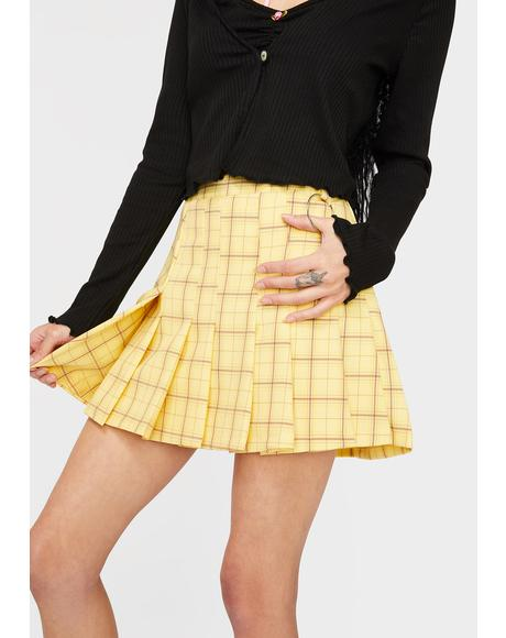 Honey Lesson Learned Plaid Skirt