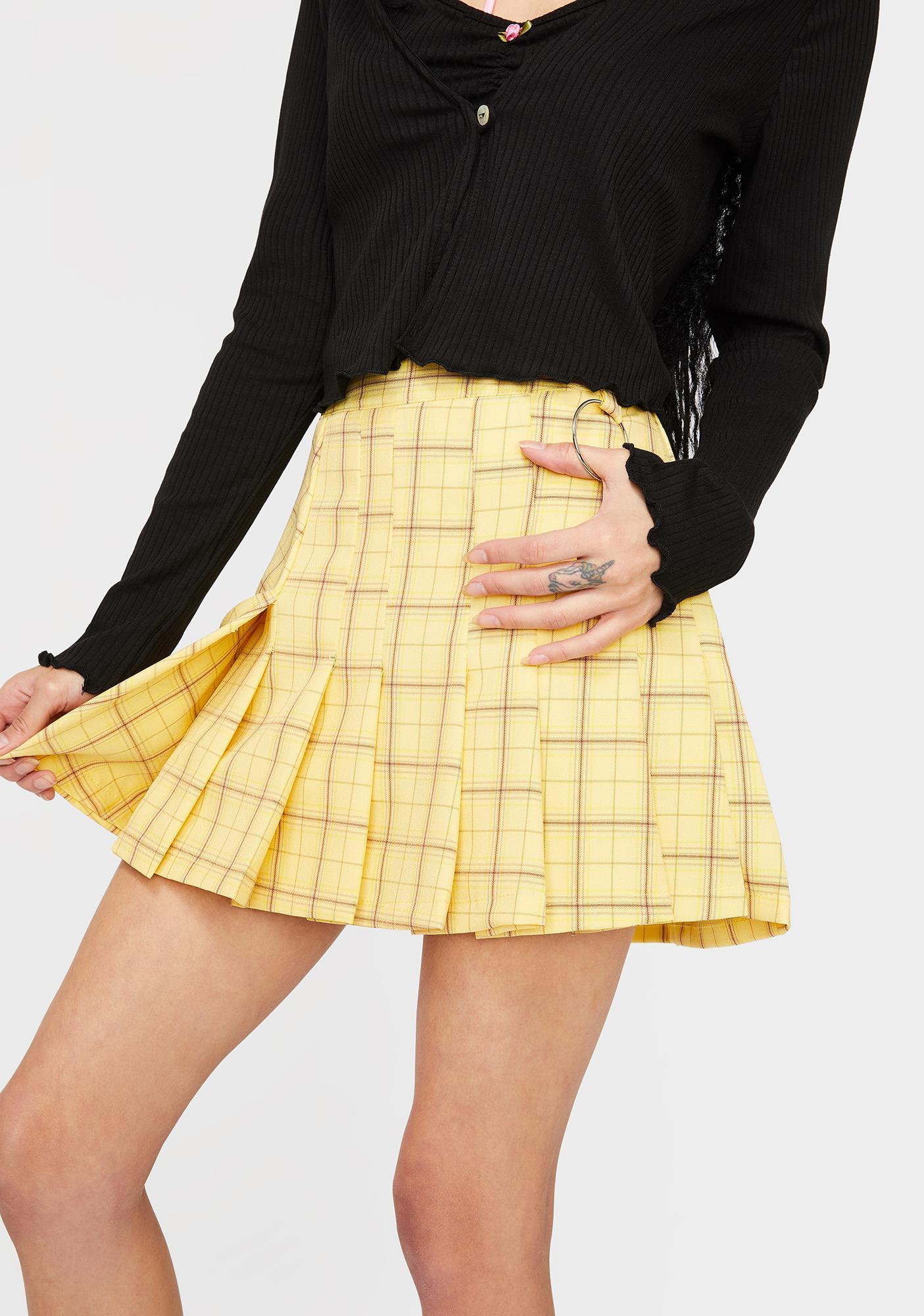 Honey Lesson Learned Plaid Skirt