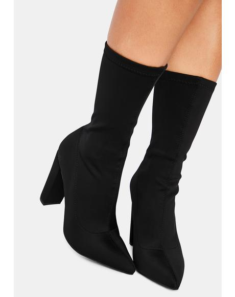 Dark Shade Patrol Heeled Booties