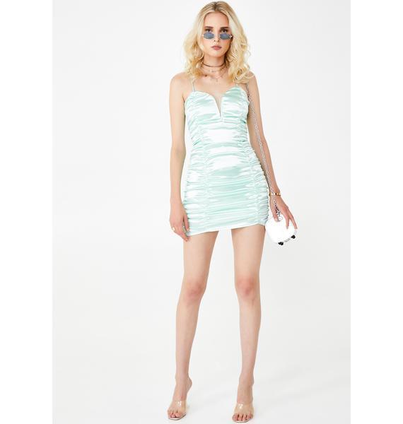For Love & Lemons Stevie Metallic Mini Dress