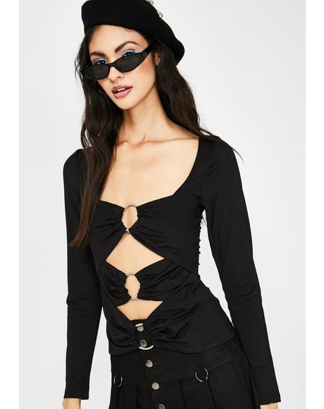 Ringing Desire Cut Out Top