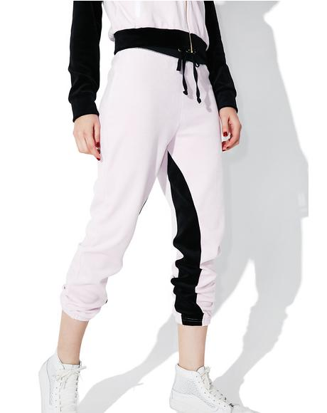 Velour Color Blocked Silverlake Joggers