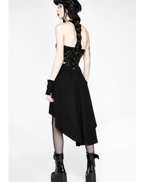 Punk Spine Shaped Dress