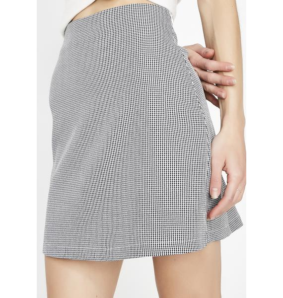 Always Polite Gingham Skirt