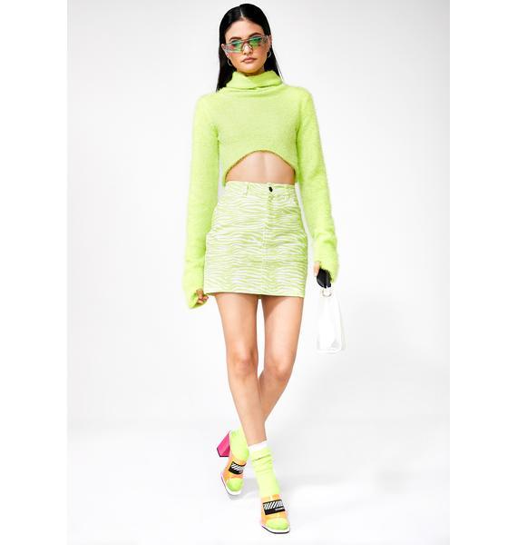Motel Slime Mini Broomy Skirt