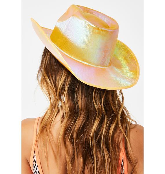 Replay Vintage Sunglasses Honey Rave Rodeo Iridescent Cowboy Hat