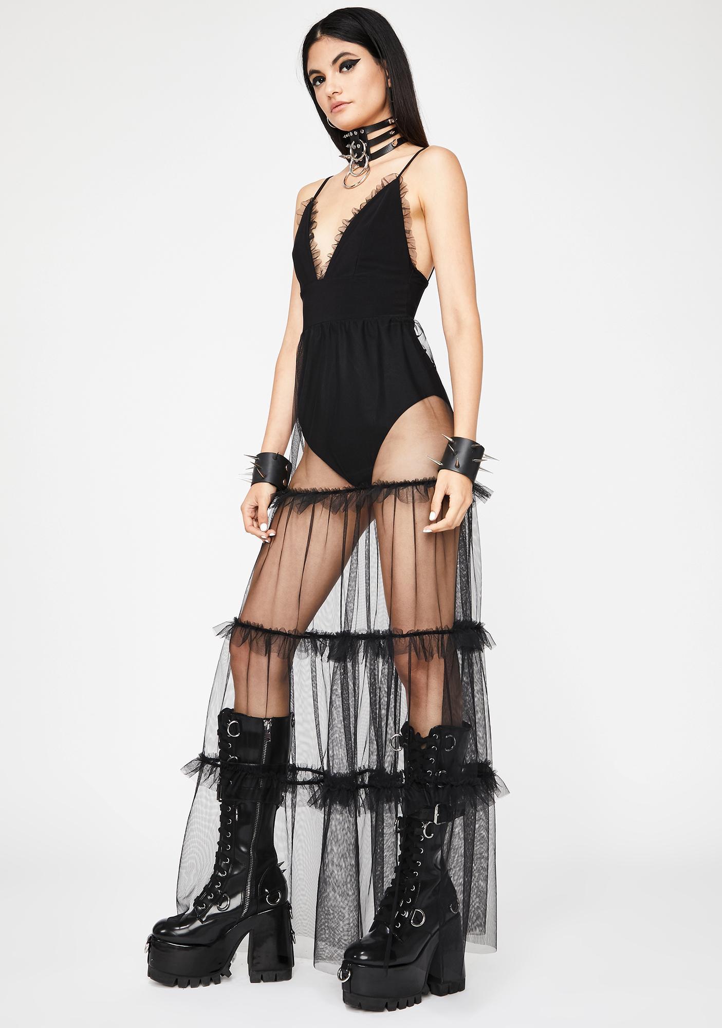 Noir Dreaming Maxi Dress