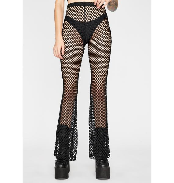Dark Storm Fishnet Flares