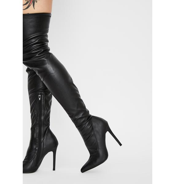 Night Draw The Line Thigh High Boots