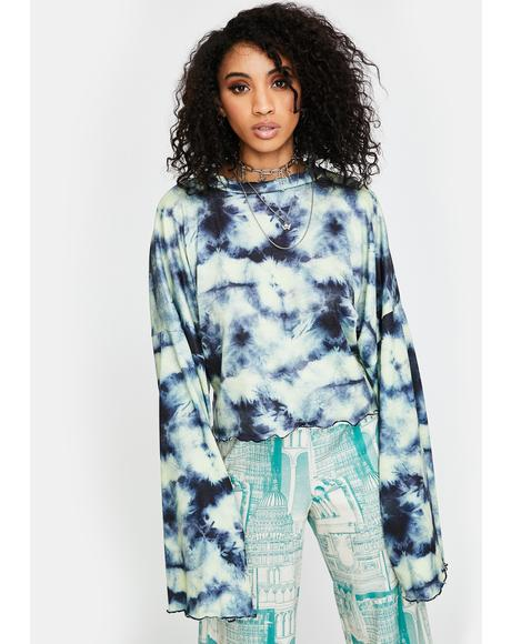 Tie Dye Knitted Crop Top
