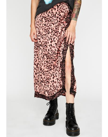 Pretty Mad Meow Midi Skirt