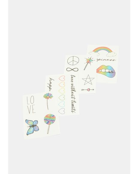 The Pride Pack Temporary Tattoos