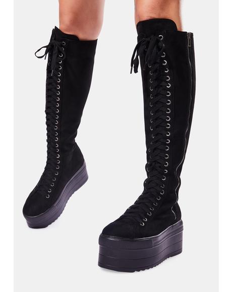 Cruel Hearted Knee High Boots