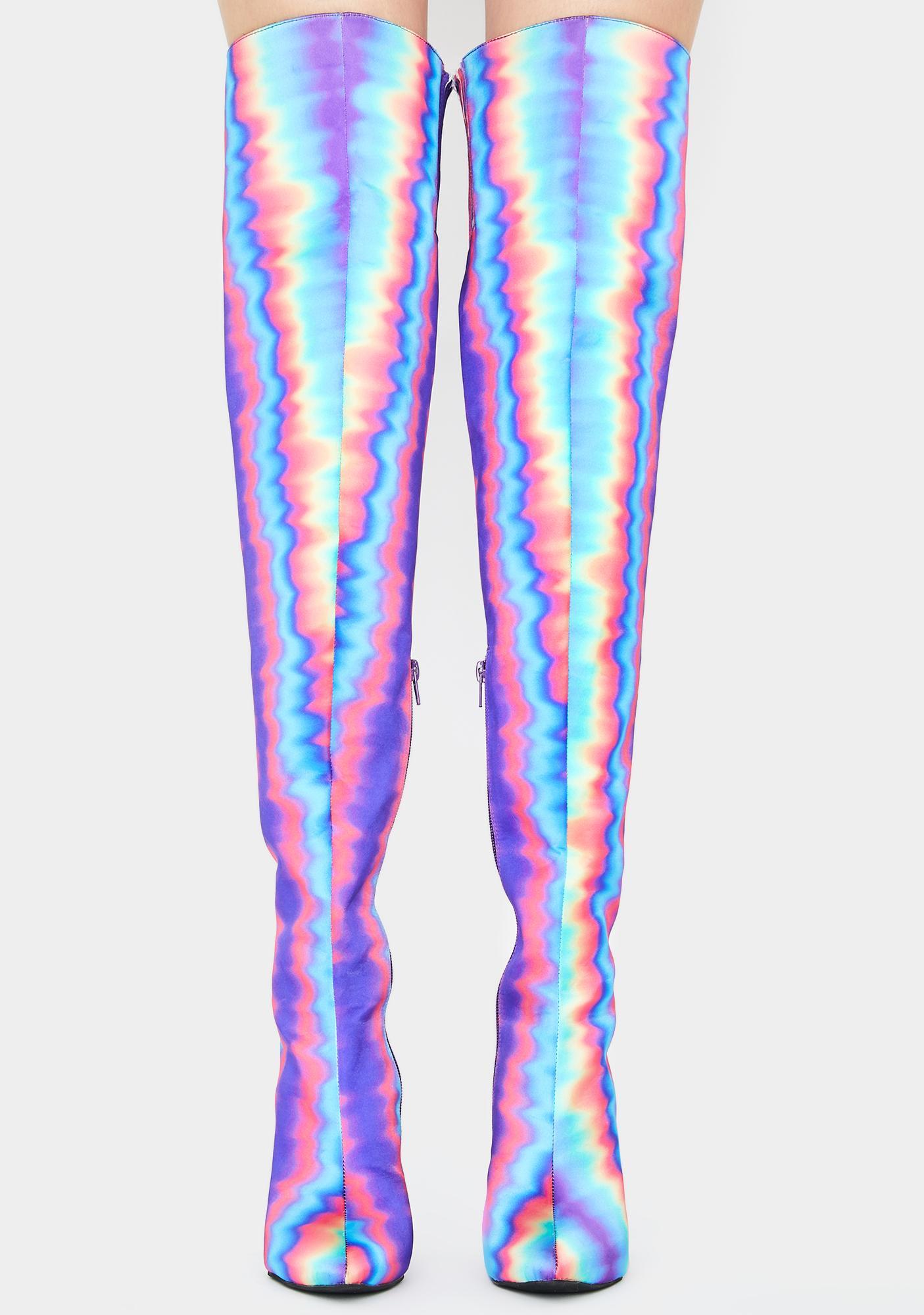 Club Exx Hypnotic Mist Thigh High Boots