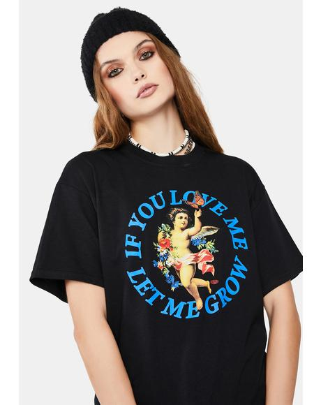 Black If You Love Me Graphic Tee