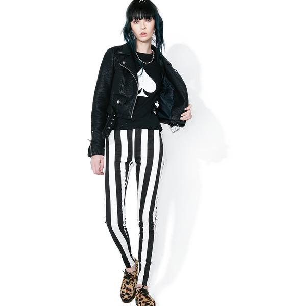 Night Fright Striped Skinny Pants