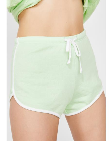 Soft Lime Pool Party Shorts