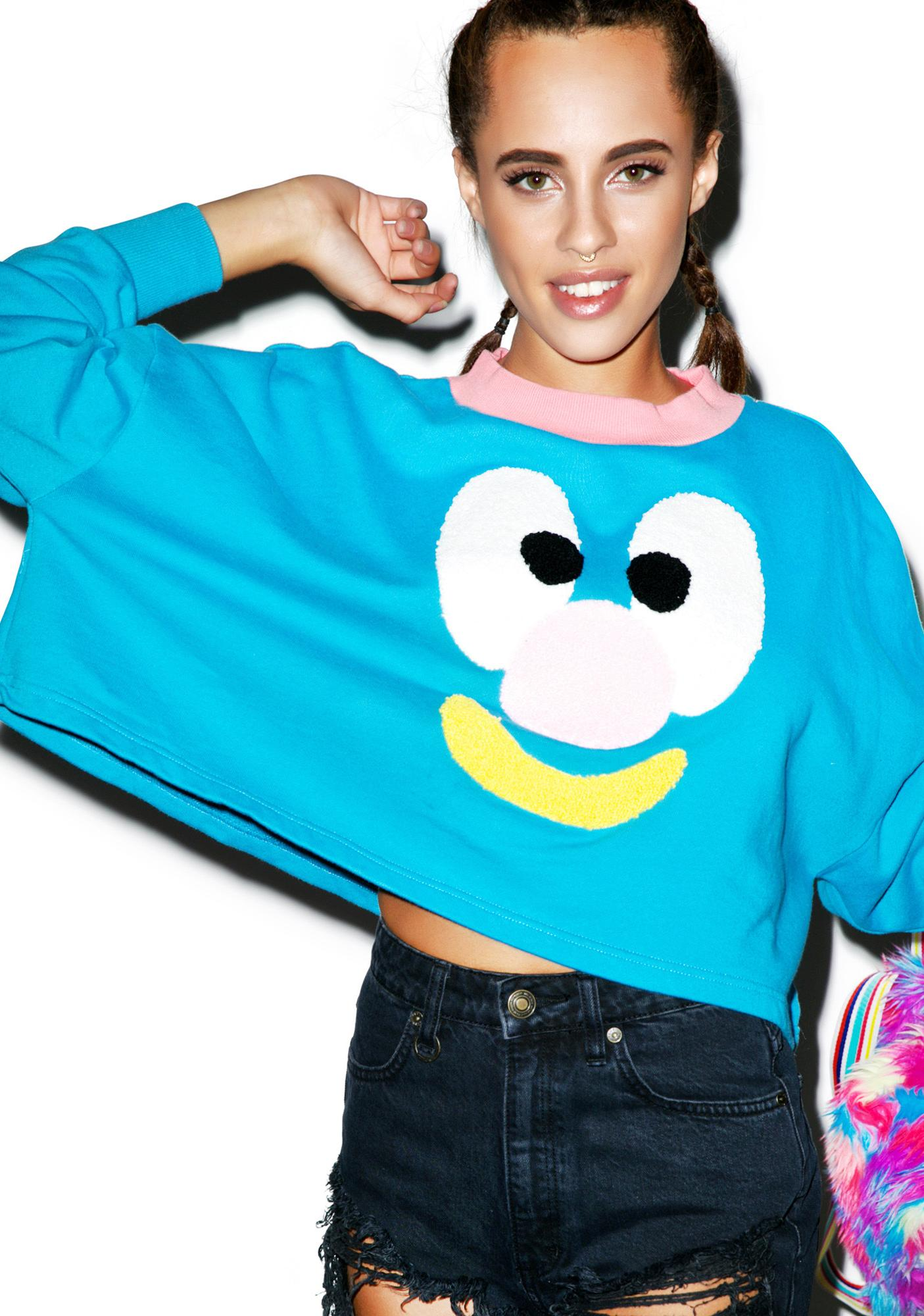 Lazy Oaf Face Sweatshirt