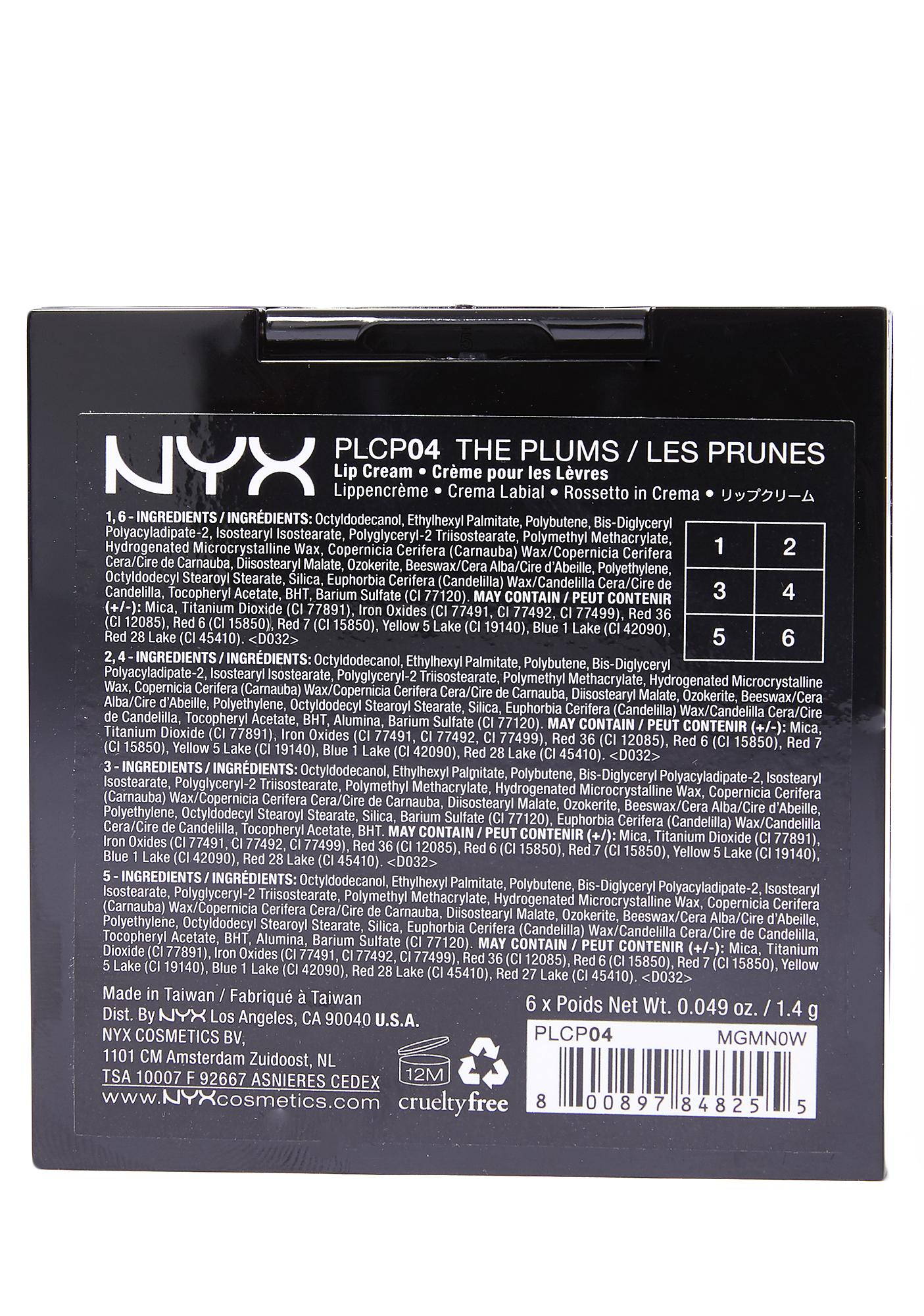 NYX The Plums Pro Lip Cream Palette