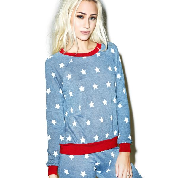 Mink Pink Head In The Stars Long Sleeve Top