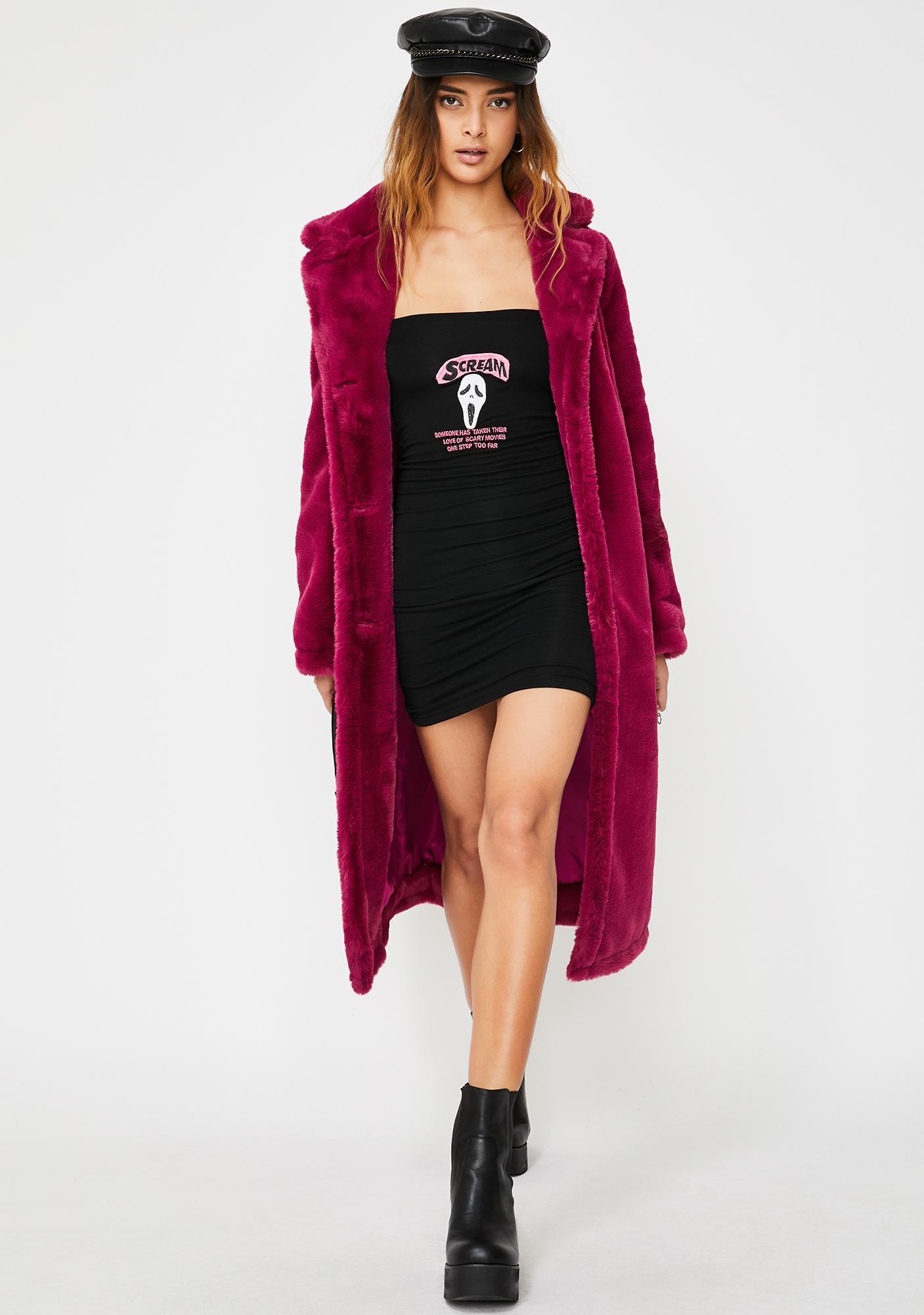 O Mighty Scream Long Sleeve Dress