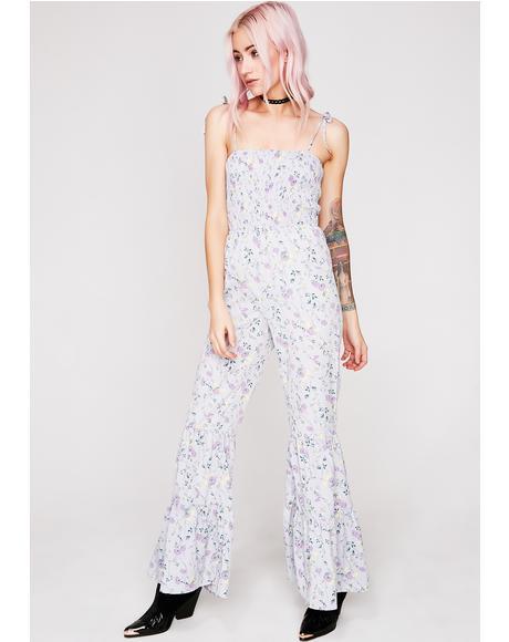 Lavender Petals Floral Jumpsuit