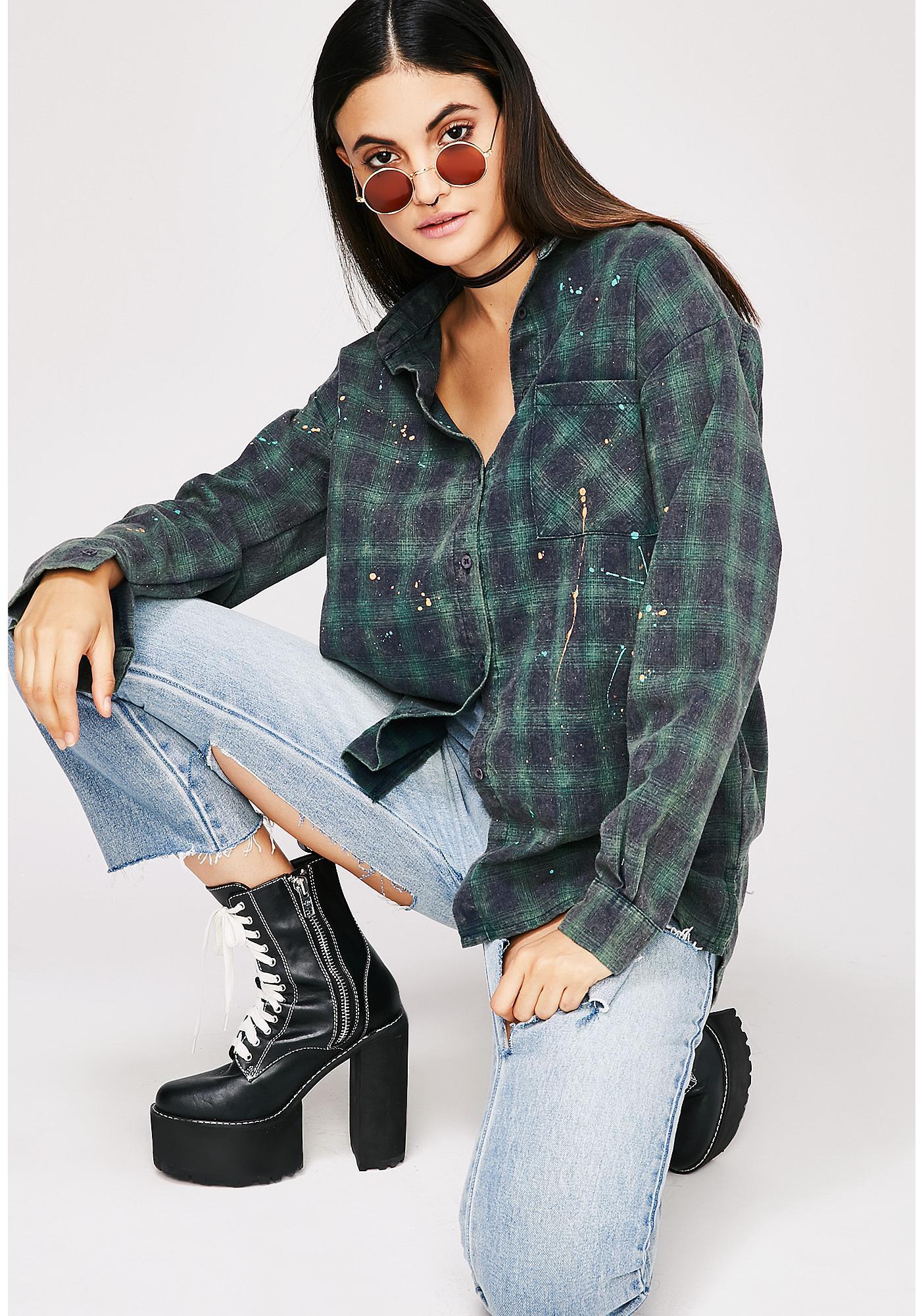 Laney Splattered Flannel