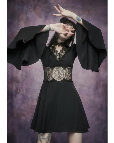 Conjuring The Dead Bell Sleeve Dress