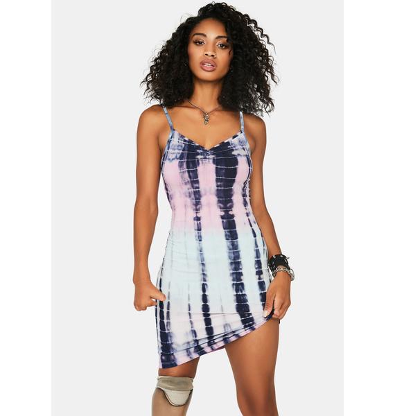 Aqua You're Obsessed Tie Dye Dress