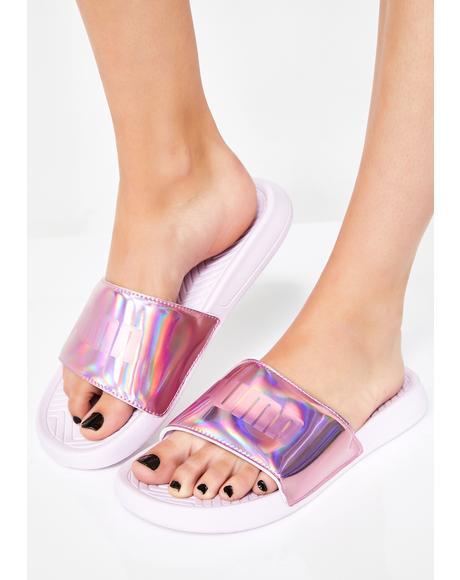 Popcat Chrome Slide Sandals