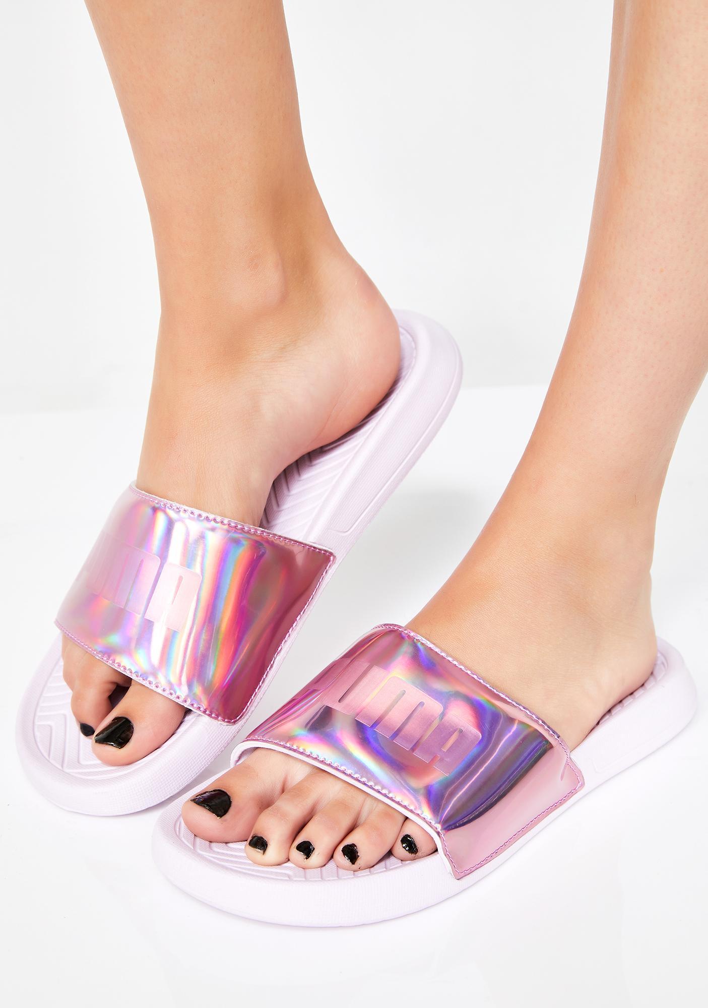 2f0afdc70de9 PUMA Popcat Chrome Slide Sandals