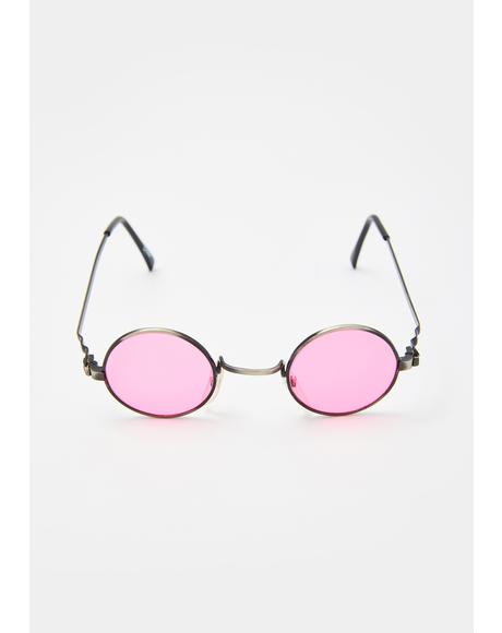 Pink Rounders Sunglasses