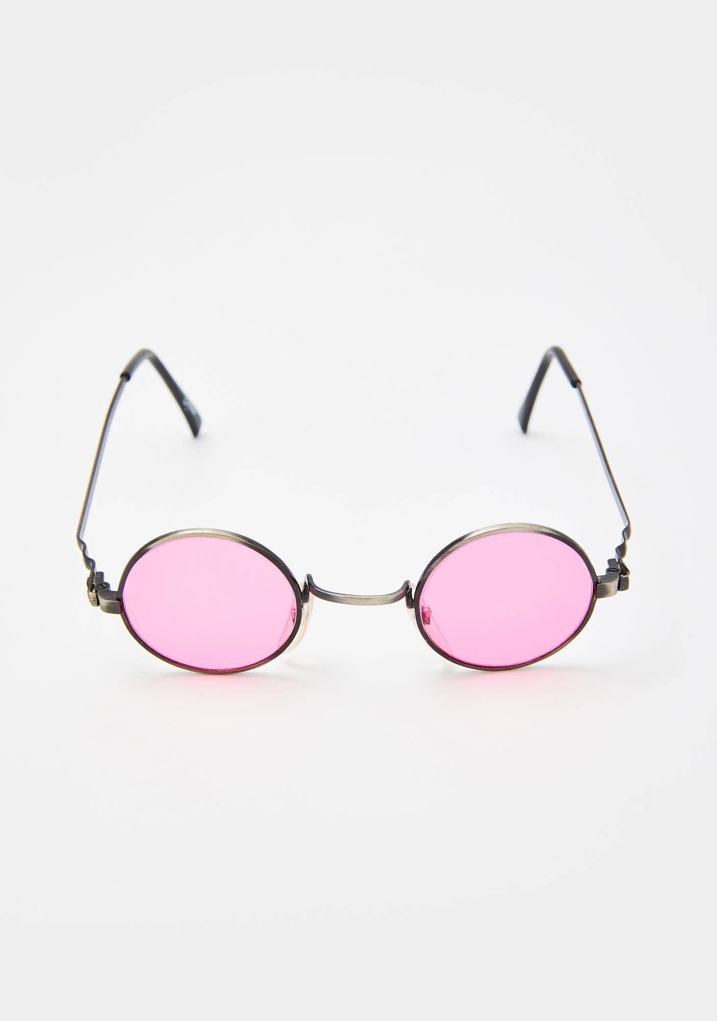 Good Times Eyewear Pink Rounders Sunglasses
