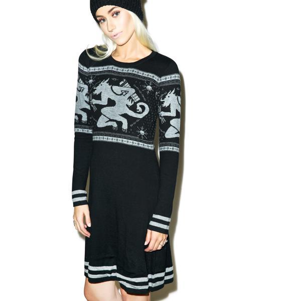 Sourpuss Clothing Krampus Fair Isle Sweater Dress